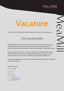 vacature CNC-Machinesteller
